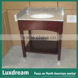28 inch solid wood hotel bathroom vanity wooden stain finish