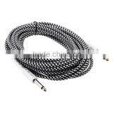 26ft / 8m 6.35mm Mono Male to 6.35mm Mono Male Cable Wire Cord for Guitar Bass Instrument