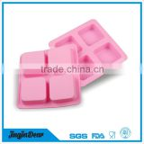DIY brick shaped 3d silicone handmade soap molds novelty 4 square silicone cake molds for soap