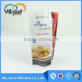 Custom printed plastic biodegradable stand up pouch moisture resistant packaging bag