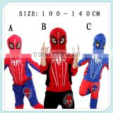 Factory sale children spider-man sports wear casual baby boys clothing set vest+sweatshirt + pants 3 pcs fashion suits for kids