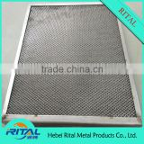 Hvac system washable aluminum compressed air filter