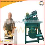 Neweek round or square timber refuse wood board multi blade saw machine