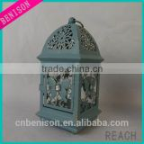 Popular high quality antique Hollow Sparkling flower vine with butterfly Lantern Candle Holder Wedding Decor