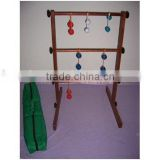 Ladder golf game outdoor game with wood frame,ball toss,blongoball game,ball toss,blongoball