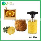 New Arrival Eco-friendly Food Grade Stainless Steel pineapple cutter fruit corer function pineapple peeler corer
