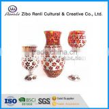 Gift Items Home Glass Mosaic Ornament Patterned Chinese Antique Tall Flower Vases for Weddings