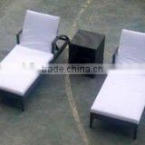 rattan lounger and outdoor furnitures