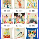 wholesale christmas decorations cute digital print cartoon throw pillow case
