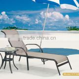 curved chaise lounge/cheap chaise lounge stacking/outdoor high chaise lounge with glass side table