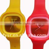 2013 ODM popular silicone jelly watch for young people