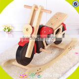 2017 wholesale wooden rocking toys for babies new design cool motorcycle wooden rocking toys for babies W16D110