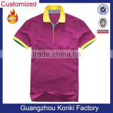 splicing fabric 100% double pique cotton custom polo shirt