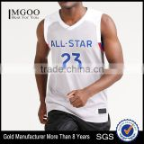 Breathable 100% Polyester Vest V Neck Gear Basketball Vest Sleeveless Customize Number All Star 23 James Mens Sport Casual Tops