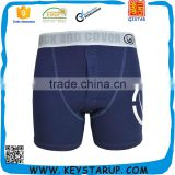 Navy Blue Mens Modal Boxer Brief for Men with Custom Elastic Waistband