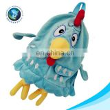 Cheap new design animal child school backpack bag custom cute soft plush chicken school kid bag