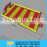 Colored inflatable water football field/soap soccer court