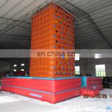 PVC inflatable climbing wall backyard rock climbing with pool