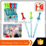 best selling outdoor toy 44cm LED flashlight soap stick bubble wrap toy for kids