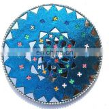 Rawat Handicrafts Indian Handmade lac mirror beaded work coaster