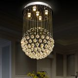 Made in China ball Crystal Chandelier LED Pendant Lamp Used home 6002