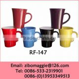 Trump Shape Colored Wholesale Promotional Porcelain Coffee Cup and Water Cup with Good Quaity