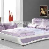 2016 new Bedroom furniture indonesia,futon,white modern leather bed for Christmas promotion                                                                         Quality Choice