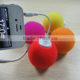 2013 new arrival high quality Mini Portable Colorful Ball Mobile Phone Audio Speaker For iPhone5/iPhone 4S/iPad Mini/iPad 4