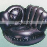hot sales pvc inflatable baseball glove sofa