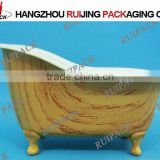 wood craft mini bathtub shape storage container,plastic bathtub container for storage products