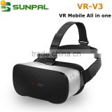 3D VR Glasses all in one android 4.4 OS Octa-core Allwinner H8 DDR3 2GB 16GB EMMC 9-axis System Gravity for Game Player