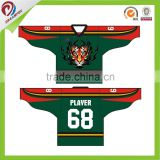Dreamfoxsport sublimation embroidery custom ice hockey apparel, ice hockey cloth with sublimation