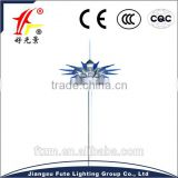 Factory price led or HPS high mast lighting with LED fixtures or HPS lamps & auto lifting system