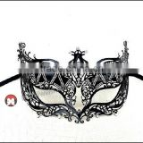 carve up Women's Laser Cut Metal Dress Crown Mask