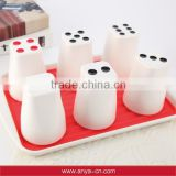 D593 party products cup set coffee cup set creative stationery of 6 cups                                                                         Quality Choice