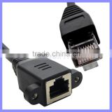 RJ45 Male to Female Ethernet Screw Lock Panel Mount LAN Network Extension Line Cord Cable