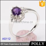 S925 silver wedding and engagement rings with clear zircon green stone ruby ring women jewelry