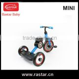 Hot sale fashion RASTAR steel frame MINI licensed baby kids 3 wheel tricycle