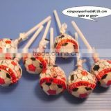 8-21g football &basketball pattern on wrapping bag on packing Lollipop ball lollipop Candy