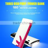 New gadgets 2016 factory power bank ,external power bank charger ,3 USB new mobile battery charger