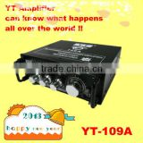 car audio amplifier YT-109A with Soft antenna CD/VCD/DVD signal input /mp3 player amplifier