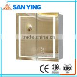 stainless steel bathroom mirror cabinet with light/wash basin mirror cabinet                                                                         Quality Choice