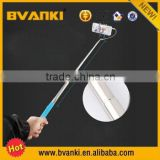 2015 Wholesale Aluminum Alloy Selfie Stick Cable Take Pole Camera Bluetooth Monopod Selfie Stick for iPhone 6