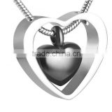 Stainless Steel Cremation Keepsake Urn Pendant Necklace