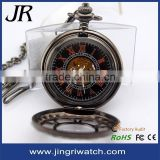 Beautiful carving flower watch face retro style mechanical pocket watch japan movt quartz pocket watch japan movt