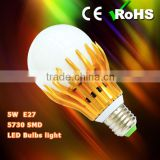 SMD 5730, Glass cover, Golden Torch, E27, GU10 5W led bulb light, Wifi or Remote Control led bulb