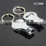 Foldable Hand Toe Nail Cutter Opener Keyring Cheap Good Quality Stainless Steel Metal Nail Clipper