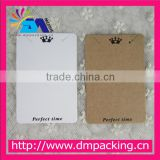 2016 New Style Logo Printing Earring Card, Custom printed necklace earring packing hang cards