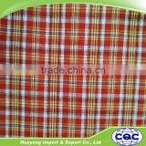 16s cheap factory price 100% recycled cotton plaid fabric for girls dress shirt