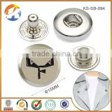 Pearl Nickel Custom Metal Snap Buttons Custom Logo
